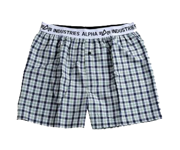 Alpha Industries trenky Bodywear Boxer Checked Green