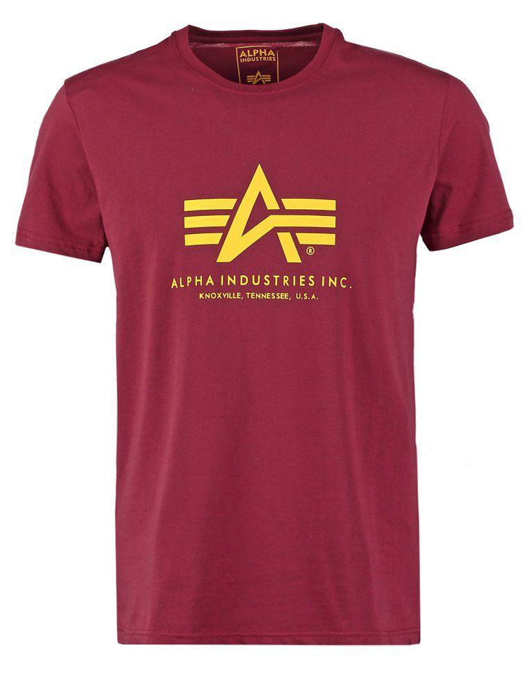 Alpha Industries pánské triko Basic vínové - Etappa