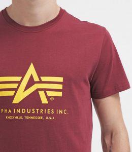 Alpha Industries triko Basic vínová