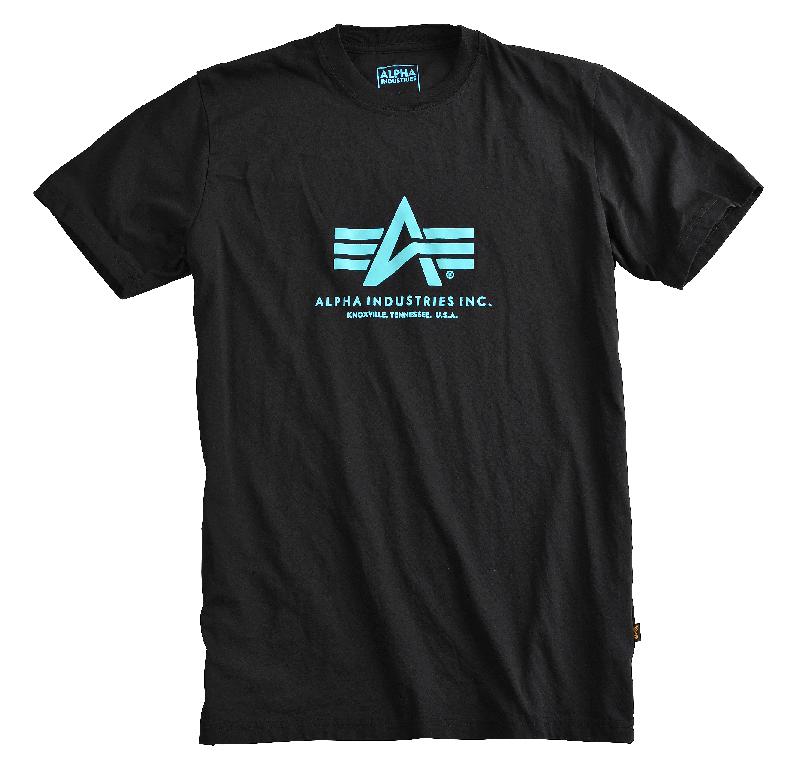 Alpha Industries triko Basic T černá/modrá