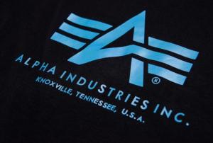 Alpha Industries triko Basic černá/modrá