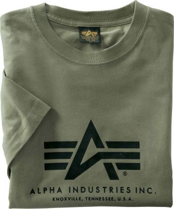 Alpha Industries triko Basic T olive