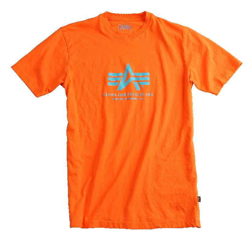 Alpha Industries triko Basic oranžové