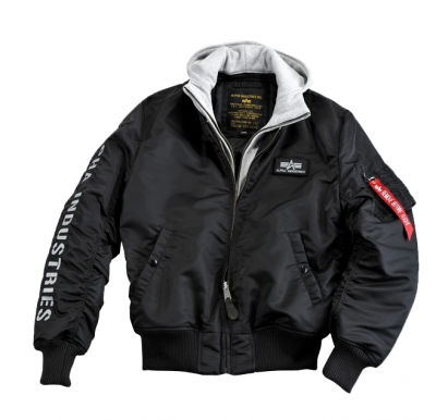 Bunda Alpha Industries MA1 D-TEC SE black/grey