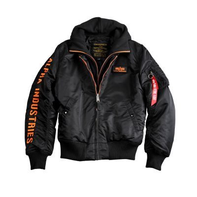 Bunda Alpha Industries MA1 D-TEC SE black/orange