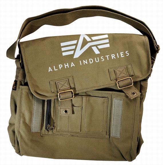 Alpha Industries Big Canvas Courier Bag