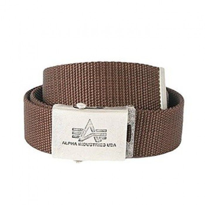Alpha Industries opasek Heavy Duty Belt Brown