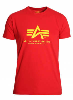 Alpha Industries Basic T Speed Red