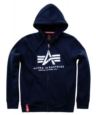 Mikina Alpha Industries | Basic Hoody na zip modrá (navy)