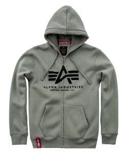 Alpha Industries pánská mikina Basic Hoody zip (olive)