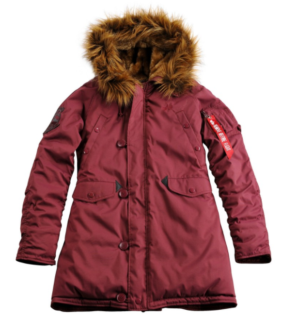 Alpha Industries dámská bunda Explorer Burgundy 103005-184