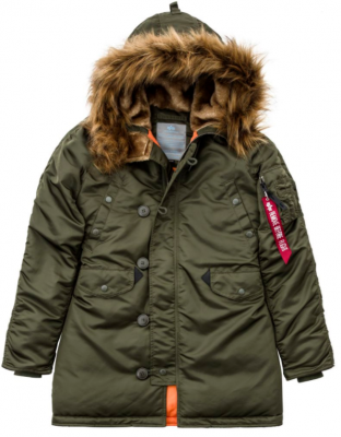 Dámská bunda Alpha Industries N3B VF 59 Wmn (dark green)
