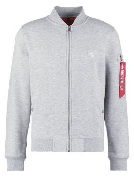 Alpha Industries X-fit Sweat Jkt MA-1 šedá