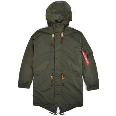 Bunda Alpha Industries | Hooded Fishtail CW TT  zelená (dark green)