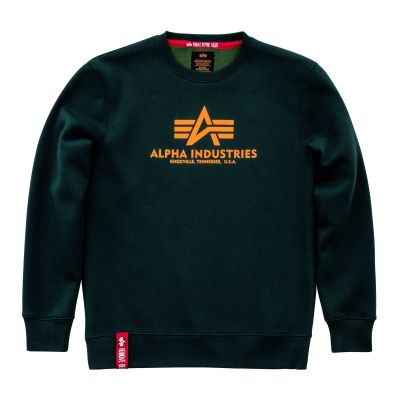 Alpha Industries mikina Basic Sweater zelená (dark petrol)