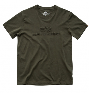 Alpha Industries pánské tričko 3D T zelené (dark green)