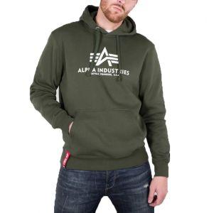 Alpha Industries pánská mikina Basic Hoody dark green 178312-257