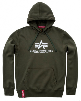 Alpha Industries pánská mikina Basic Hoody dark green