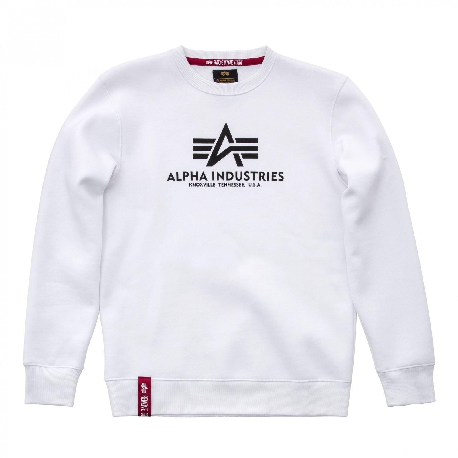 90943eabd5 Alpha Industries pánská mikina Basic Sweater white