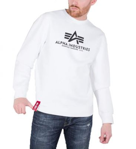 Alpha Industries pánská mikina Basic Sweater white