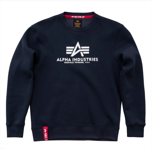 Alpha Industries pánská mikina Basic Sweater Navy 178302-02