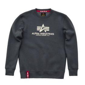 Alpha Industries pánská mikina Basic Sweater (greyblack)
