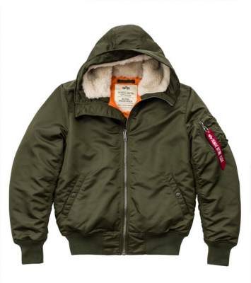 Bunda Alpha Industries MA1 Hooded Dark green