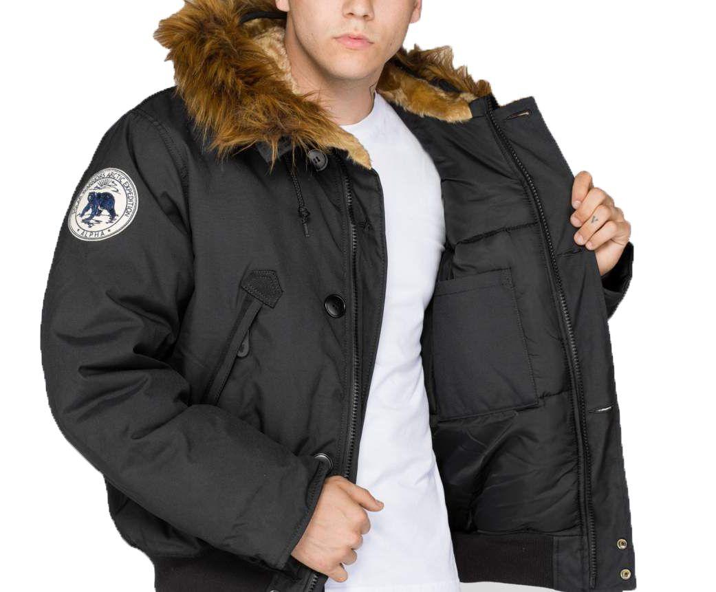 07f54f0c6 Alpha Industries zimní bunda Polar Jacket Black - Etappa