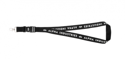 Alpha Industries klíčenka Black Lanyard