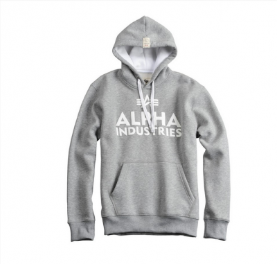 Alpha Industries Foam Print Hoody Grey