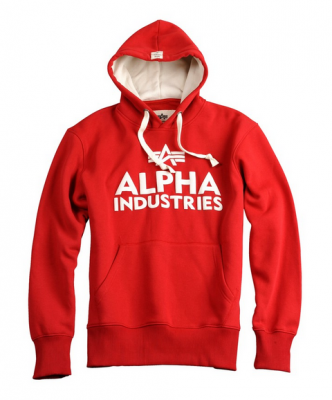Alpha Industries Foam Print Hoody Red