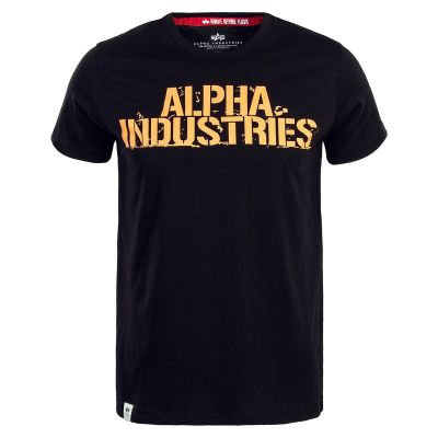 Alpha Industries triko Blurred T černé