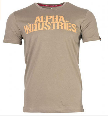 Alpha Industries triko Blurred T olivové
