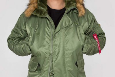 Bunda Alpha Industries N3B sage green - Etappa