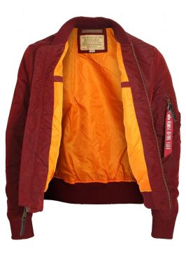 Alpha Industries bunda MA-1 TT burgundy - Etappa