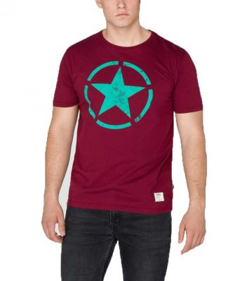 Alpha Industries triko Star T Burgundy