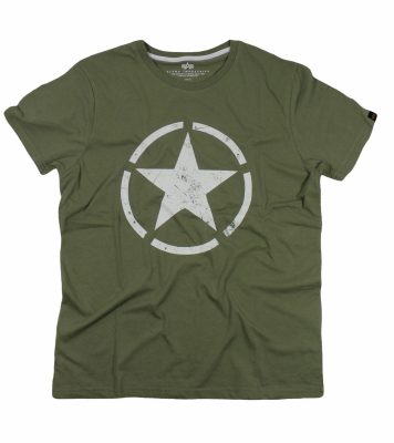 Alpha Industries triko Star T olive