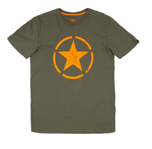 Alpha Industries triko Star T dark olive