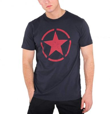 Alpha Industries triko Star T repl/red