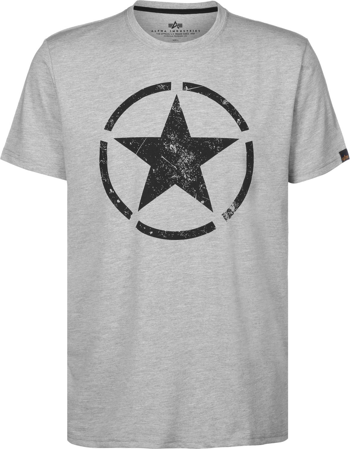 Alpha Industries triko Star T Greyh/black