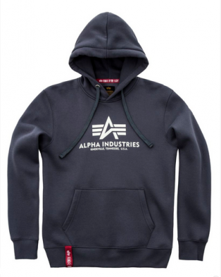 Alpha Industries Basic Hoody greyblack