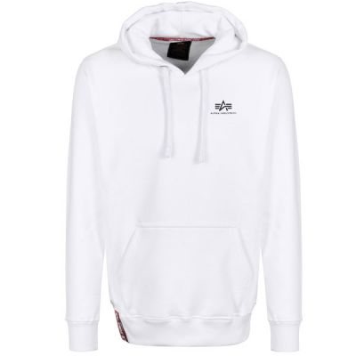 Alpha Industries Basic Hoody Small Logo (white)