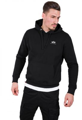 Alpha Industries Basic Hoody Small Logo (black)