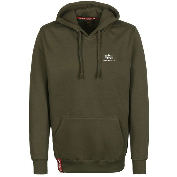 Mikina Alpha Industries Dark Green small logo