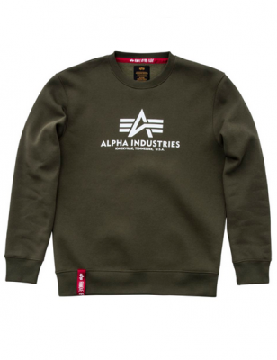 Alpha Industries mikina Basic Sweater (dark green)