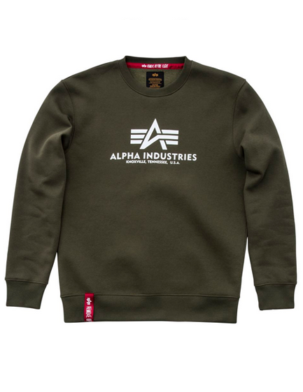 Alpha Industries Basic Sweater ((dark green) - Etappa