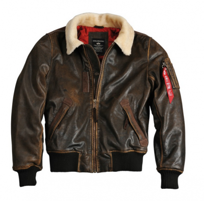Kožená bunda Alpha Industries Injector III Leather