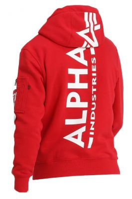 Alpha Industries Back Print Hoody (speed red)