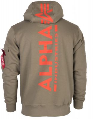 Alpha Industries mikina Back Print Hoody olive
