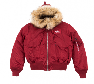 Alpha Industries 45P Hooded Custom (commander red)